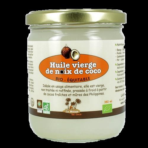 Huile vierge de coco bio equitable